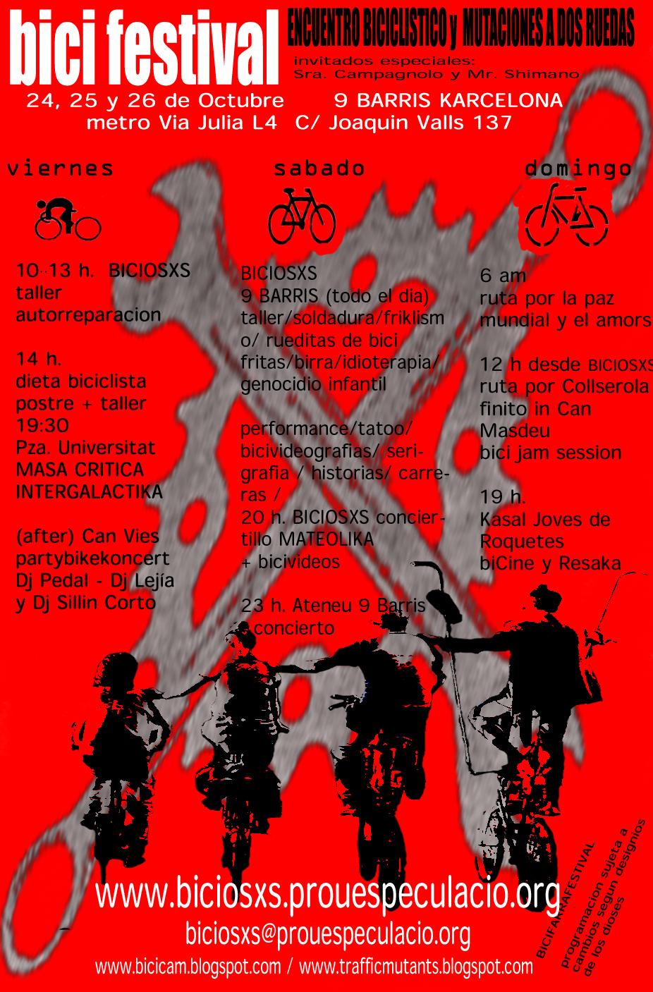 Bicifestival Octubre Barcelona
